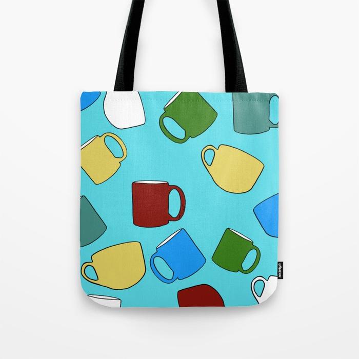 Coffee Mugs Tote Bag