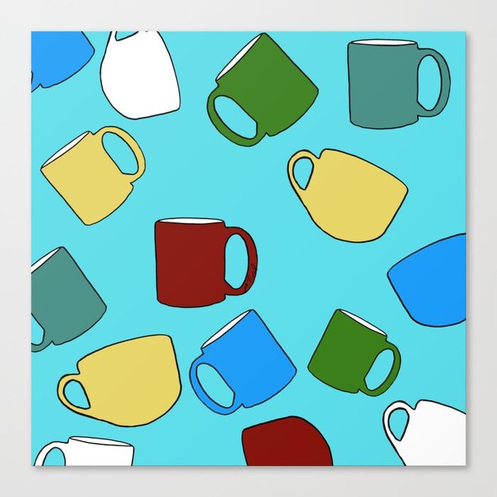 Coffee Mugs Canvas Print