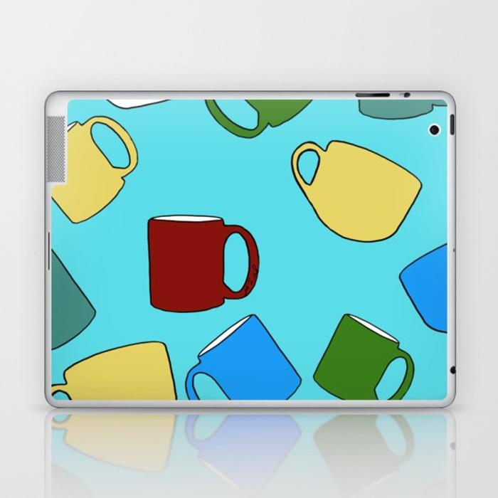 Coffee Mugs Laptop Skin