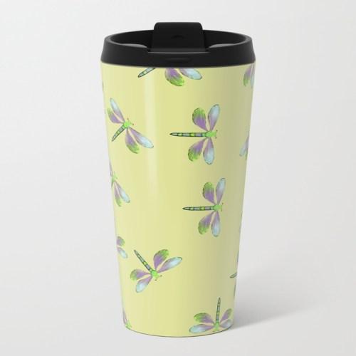Dragonfly Frenzy Travel Mug