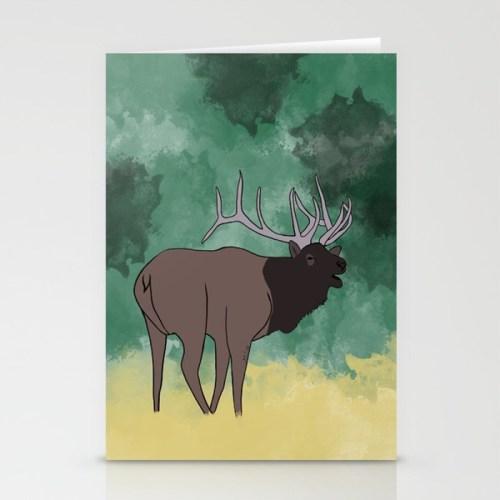 Bull Elk Bugling Cards