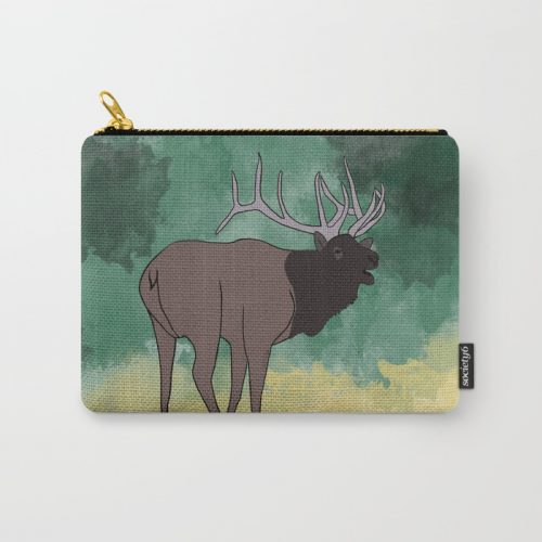 Bull Elk Buging Carry All Pouch