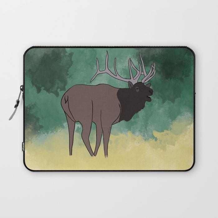 Bull Elk Bugling Laptop Sleeve