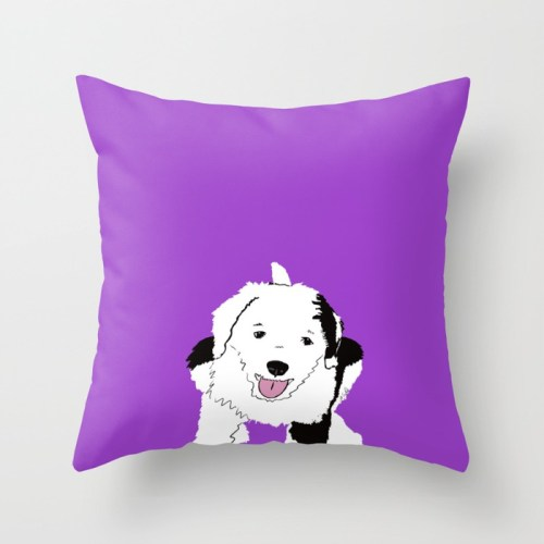 Gypsy The Sheepadoodle Throw Pillow