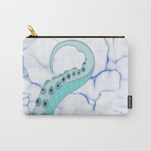 Wrapped In Tentacles Carry All Pouch