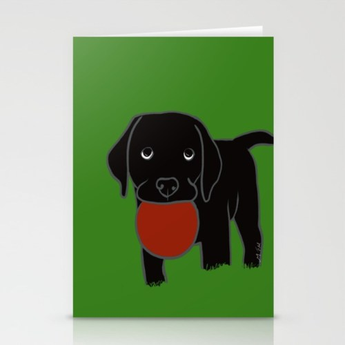 Black Lab Puppy Greeting Cards