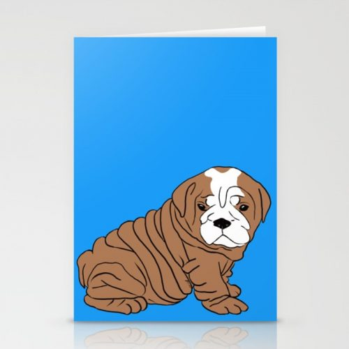 Bulldog Puppy Greeting Cards