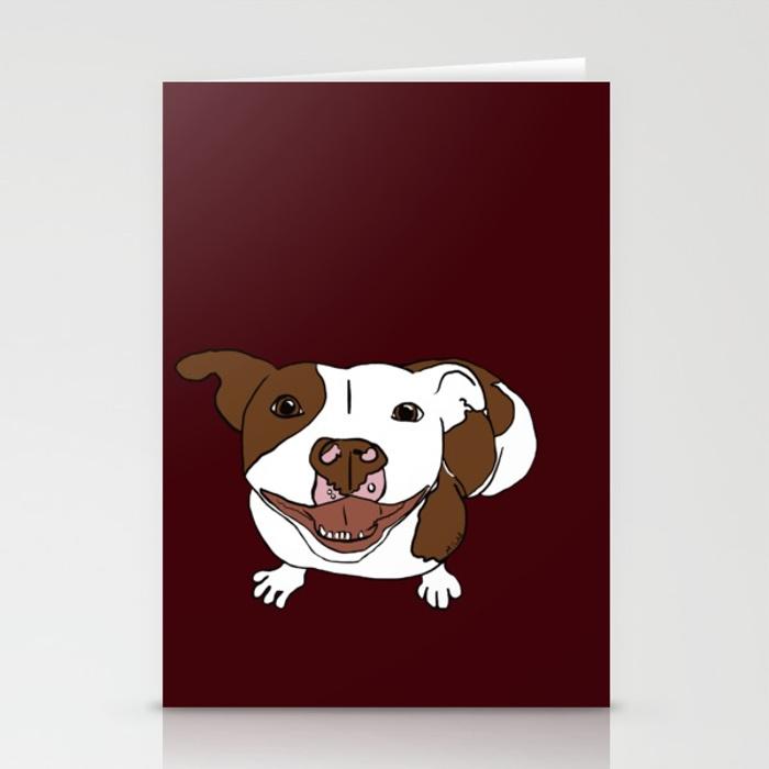 Celia Mae The Pitbull Greeting Cards