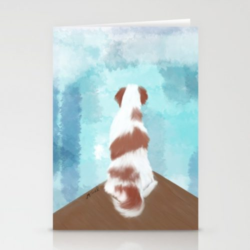 Deschutes The Brittany Spaniel Greeting Cards