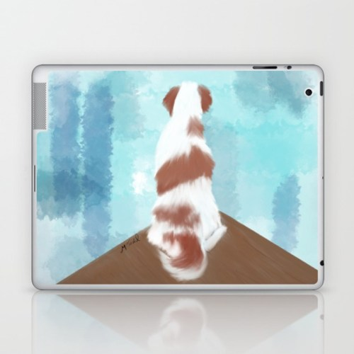 Deschutes The Brittany Spaniel Laptop or Ipad Sleeve