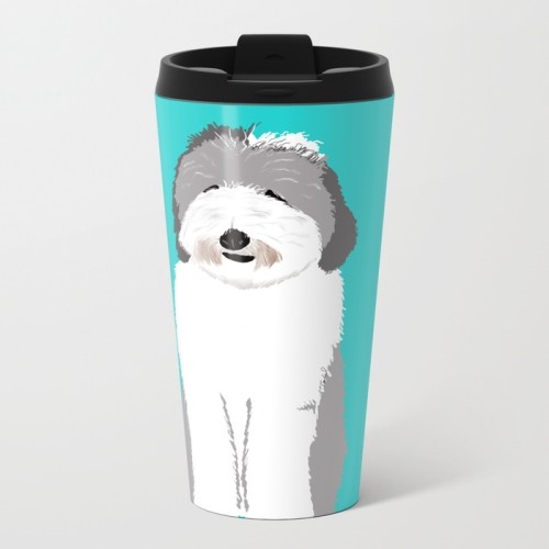 Lucy The Sheepadoodle Travel Mug