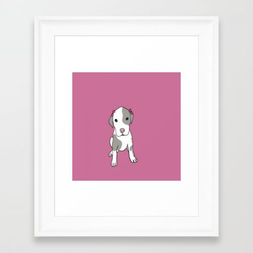 Millie The Pitbull Puppy Framed Print by Melinda Todd