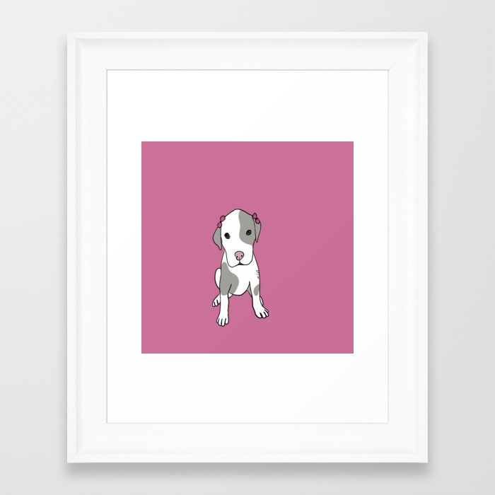 Millie The Pitbull Puppy Framed Print by Melinda Todd