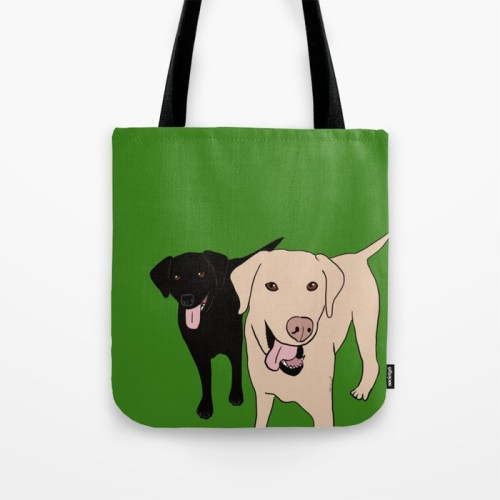Tanner and Lily Labrador Buddies Tote Bag