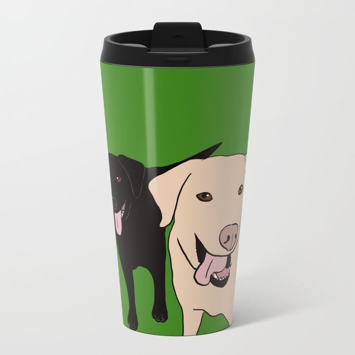 Tanner and Lily Labrador Buddies Travel Mug