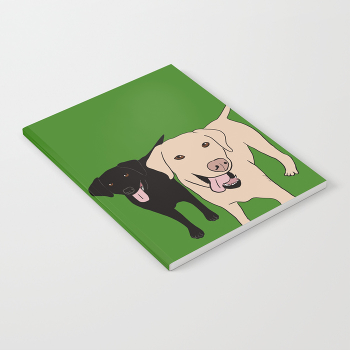 Tanner and Lily Labrador Buddies Notebook