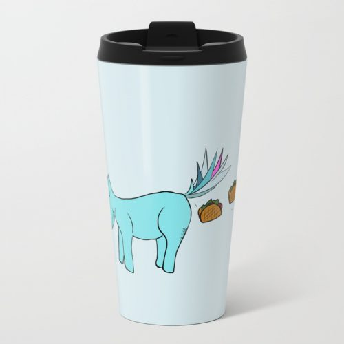 Unicorn Pooping Tacos Travel Mug