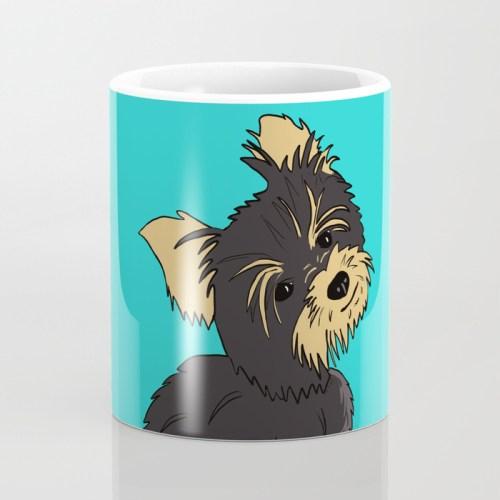 A Bossy Yorkie Coffee Mug  by Mel's Doodle Designs