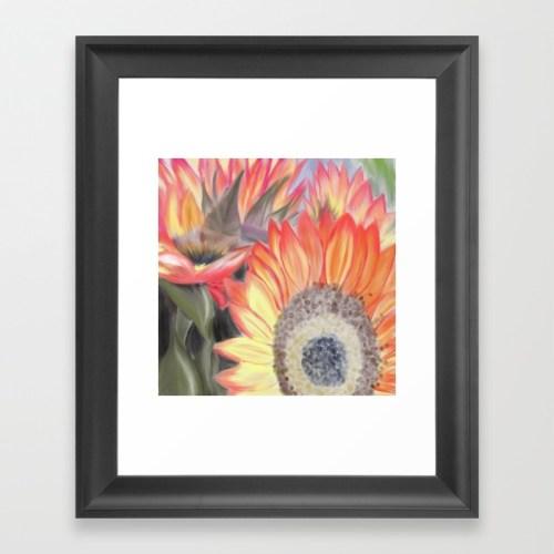 Fall Sunflowers by Melinda Todd Framed Print