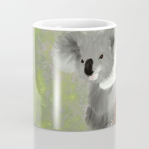 Koala Bear Hanging In There Coffee Mug  by Mel's Doodle Designs
