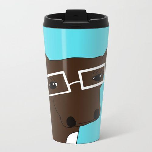 Matilda the Hipster Cow Travel Mug