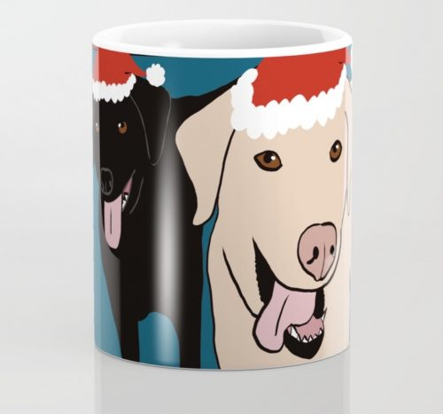 Labs Love Christmas Coffee Mug by Mel's Doodle Designs