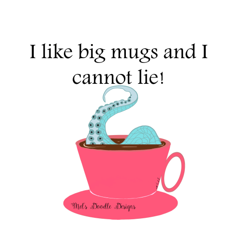Coffee Mugs and Coffee by Mel's Doodle Designs