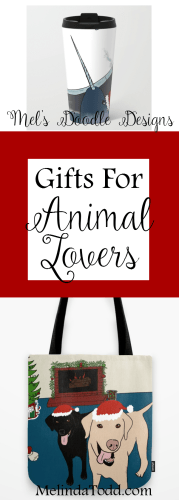 Christmas Gifts for Animal Lovers by Mel's Doodle Designs
