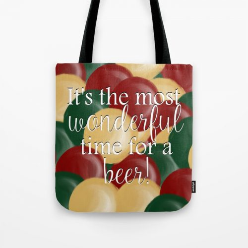 It's the Most Wonderful Time For a Beer Tote Bag by Mel's Doodle Designs