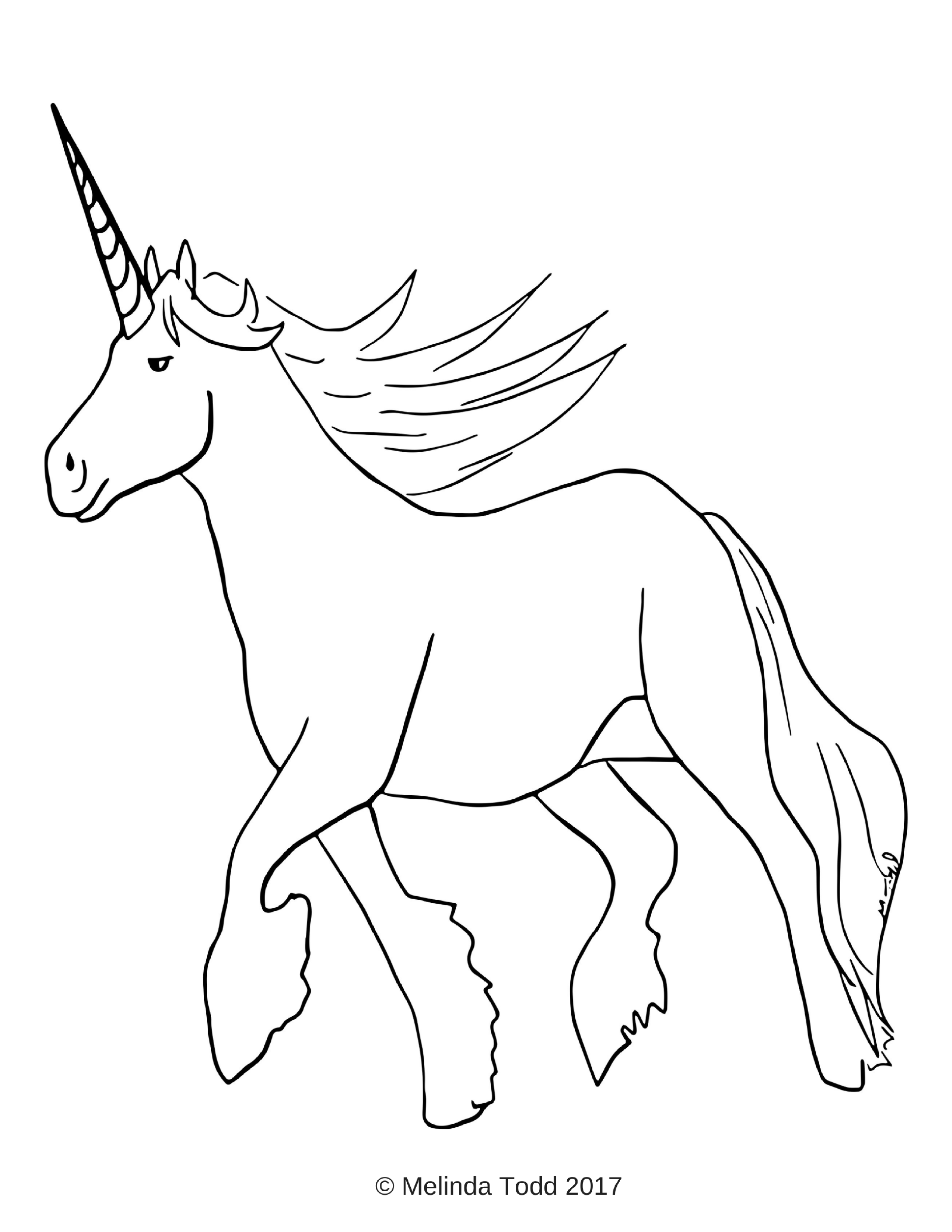 Free Simple Unicorn Coloring Page For All Ages By Mel S