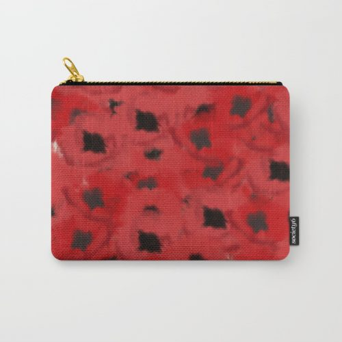 Field of Poppies In Summer Carry All Bag by Mel's Doodle Designs