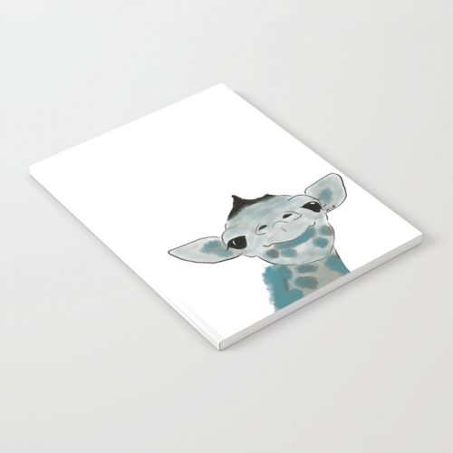 Happy Baby Giraffe Notebook by Mel's Doodle Designs