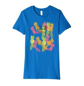Hug Cats T-shirt by Mel's Doodle Designs