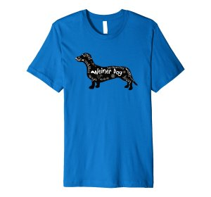 Sweet Weiner Dog Word Filled Silhouette Shirt by Mel's Doodle Designs