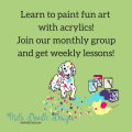 Join our monthly painting class at Mel's Doodle Designs
