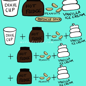 Homemade DQ Buster Bars Infographic by Mel's Doodle Designs