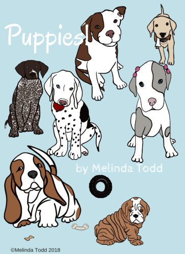 Free Puppy Coloring Book by Mel's Doodle Designs