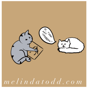 Grateful List Cat Comic by Mel's Doodle Designs