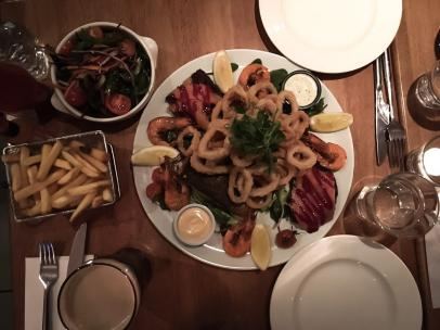 The hot seafood platter for two