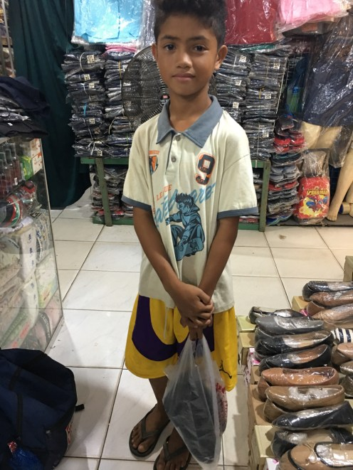 boy needs a school uniform