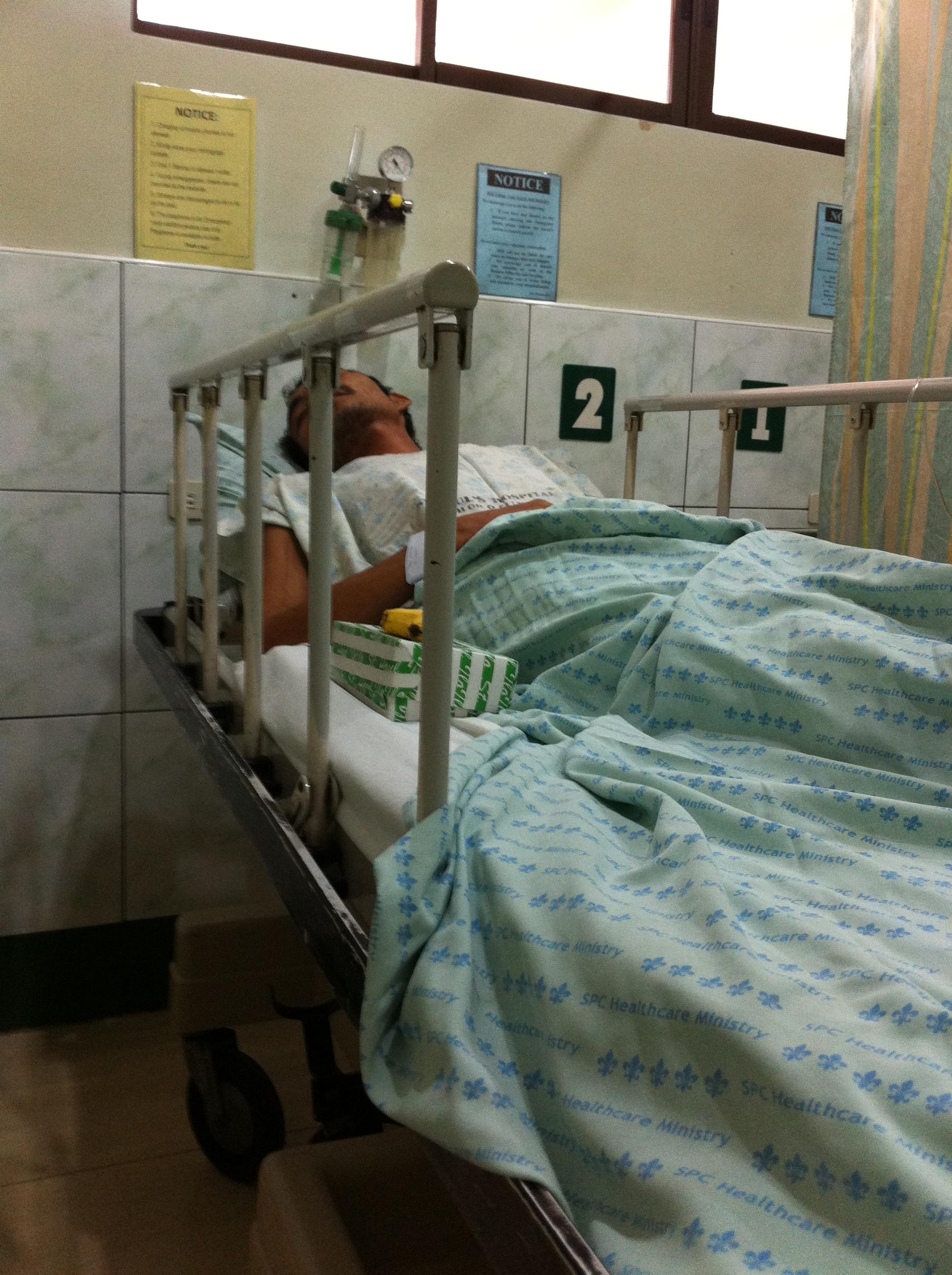Ronnie in hospital in Iloilo City