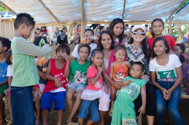 Back with the tent city families