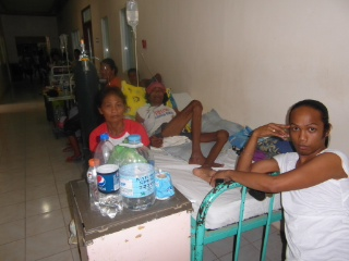 The Malbog Hospital in Estancia, Iloilo has no permanent water supply.
