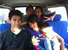 Beautiful Bandojo family comes with me to Iloilo to put me on the plane.