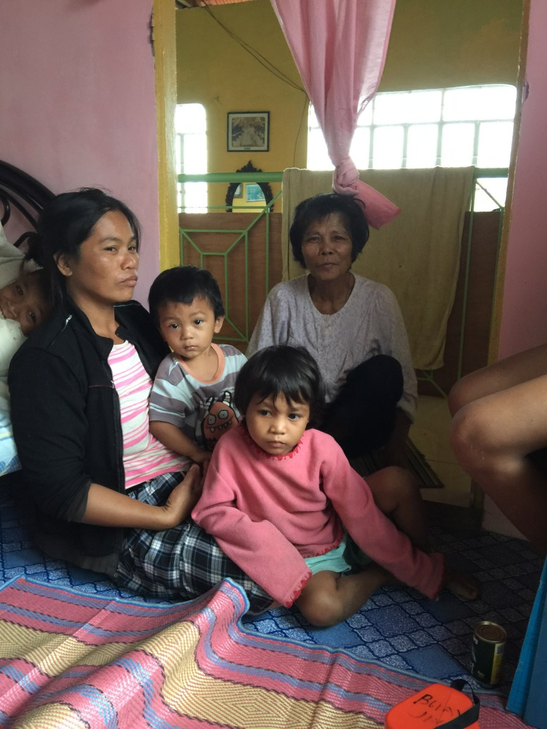 I spent the night of Typhoon Ruby sheltered with this lovely family.