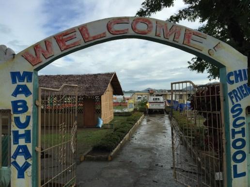 Botongon Elementary School is still under repair from Typhoon Yolanda as Ruby comes stalking.