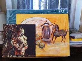 Esther overlaid onto art.