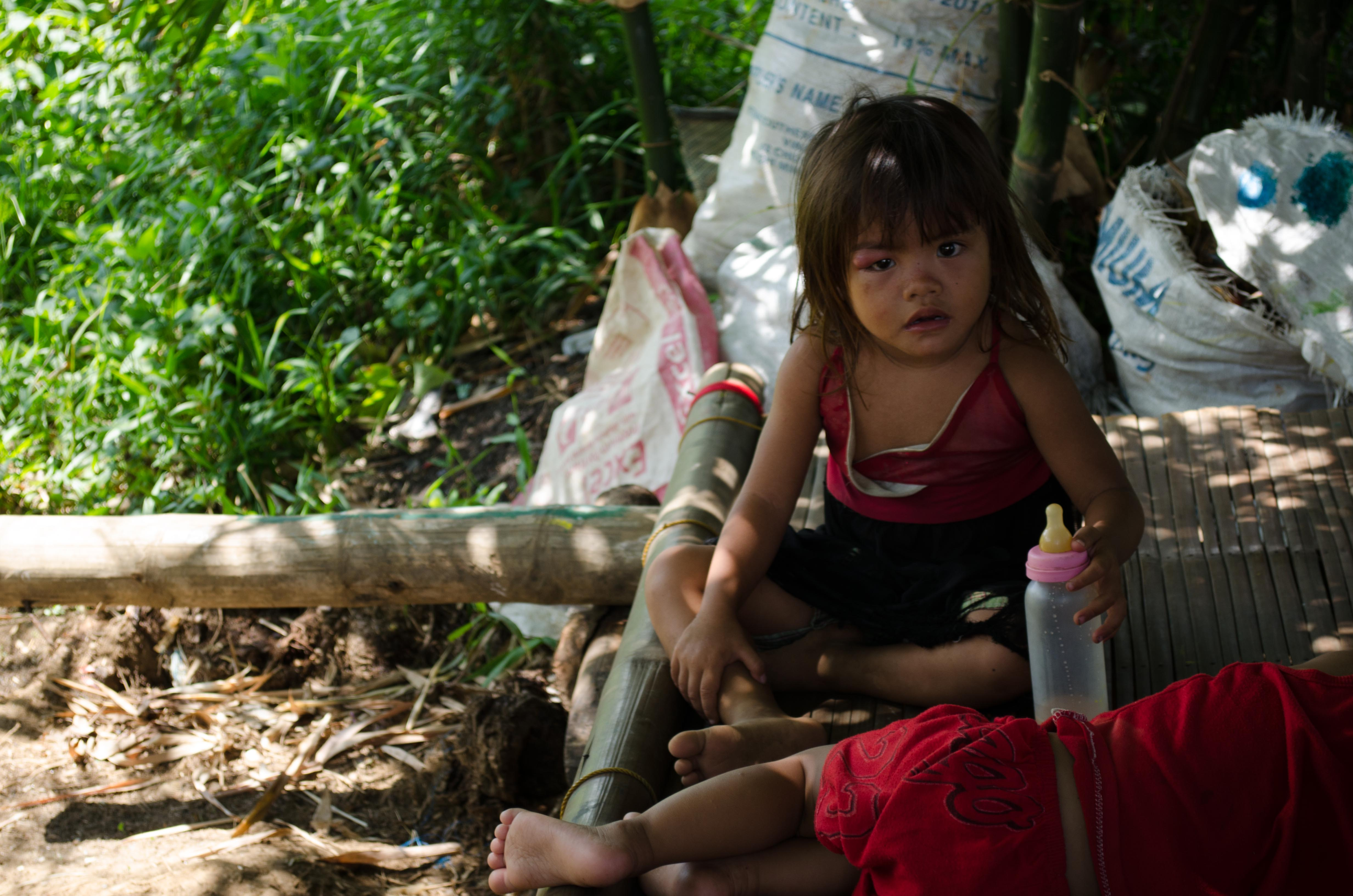 little girl from impoverished family