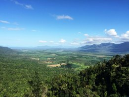 view from kirrama range to hinchinbrook