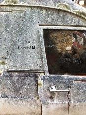 the old panel van lies in ruins